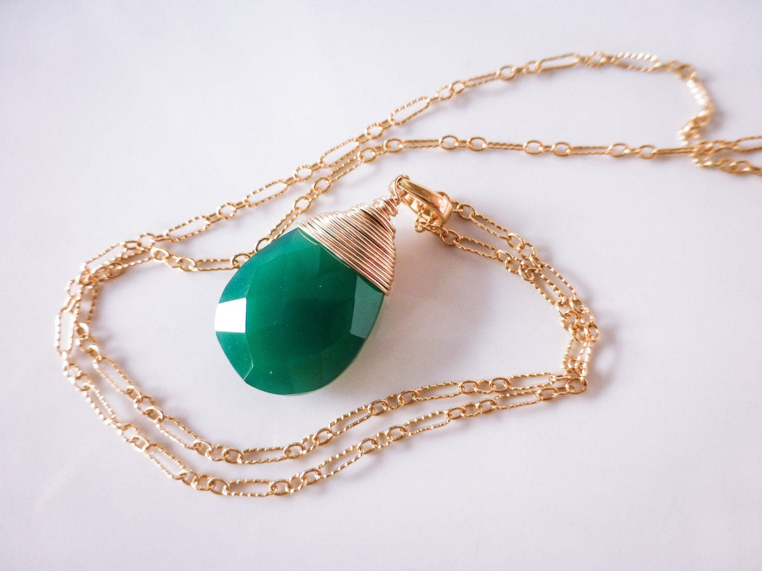 Emerald green onyx large pendant necklace in gold filled valltasy the layla pendant emerald green onyx large pendant necklace in gold filled aloadofball Choice Image