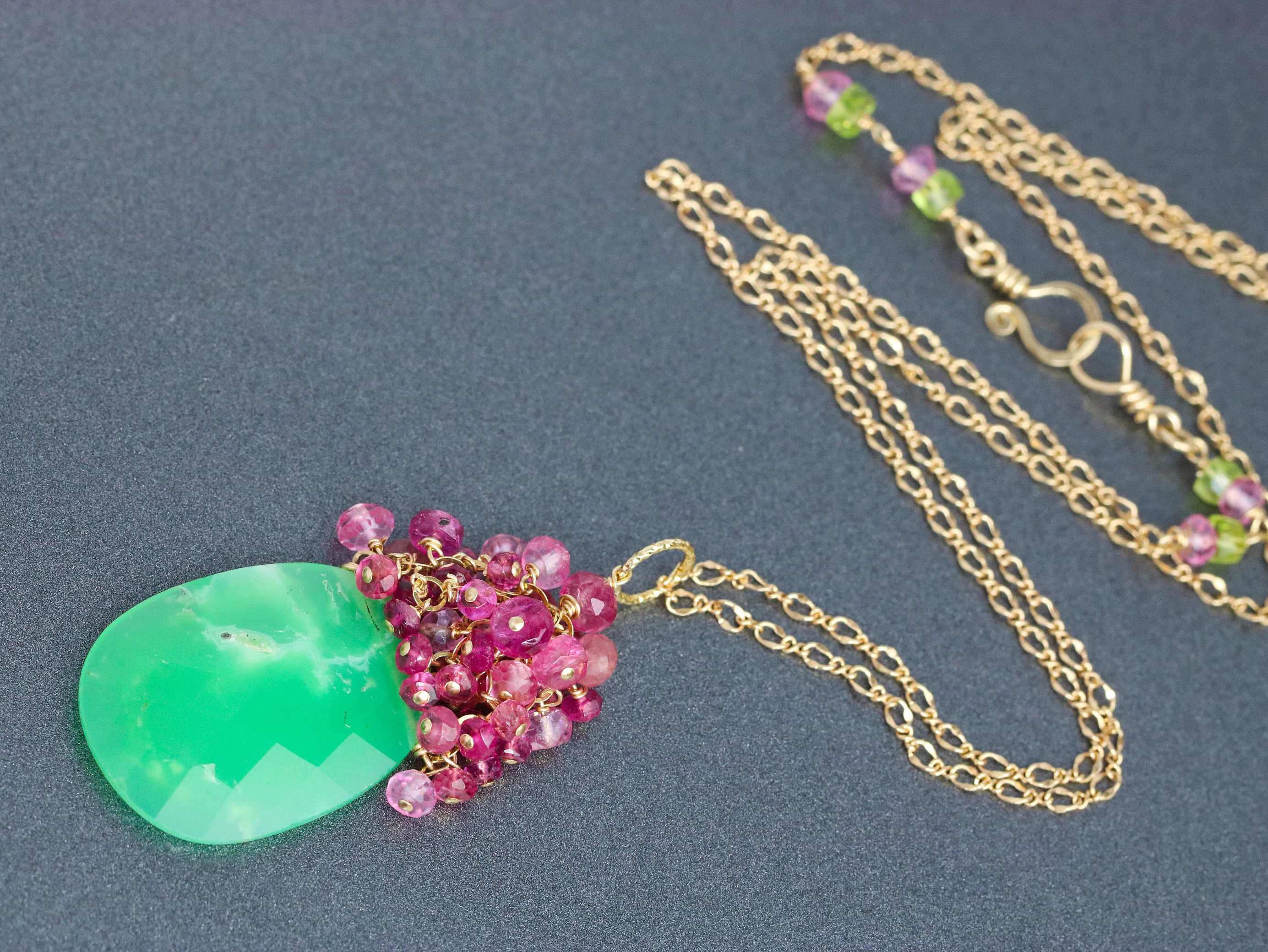 necklace chip chrysoprase product