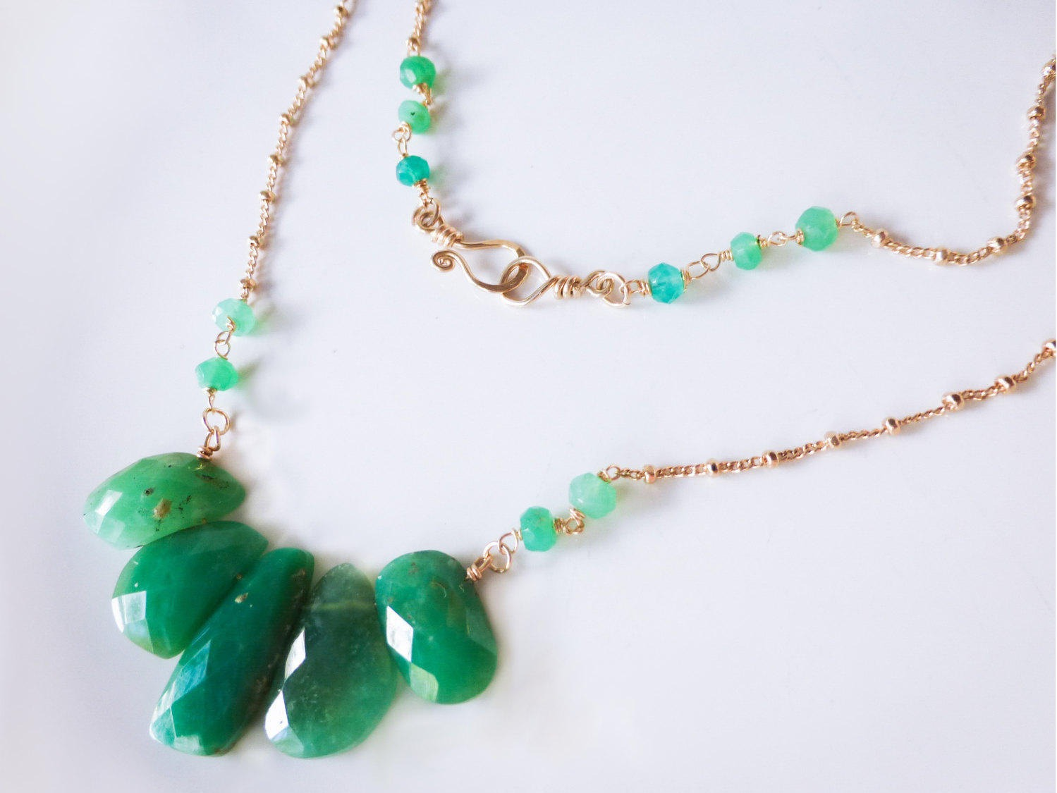 stones maile sk pendant necklace products chrysoprase handmade