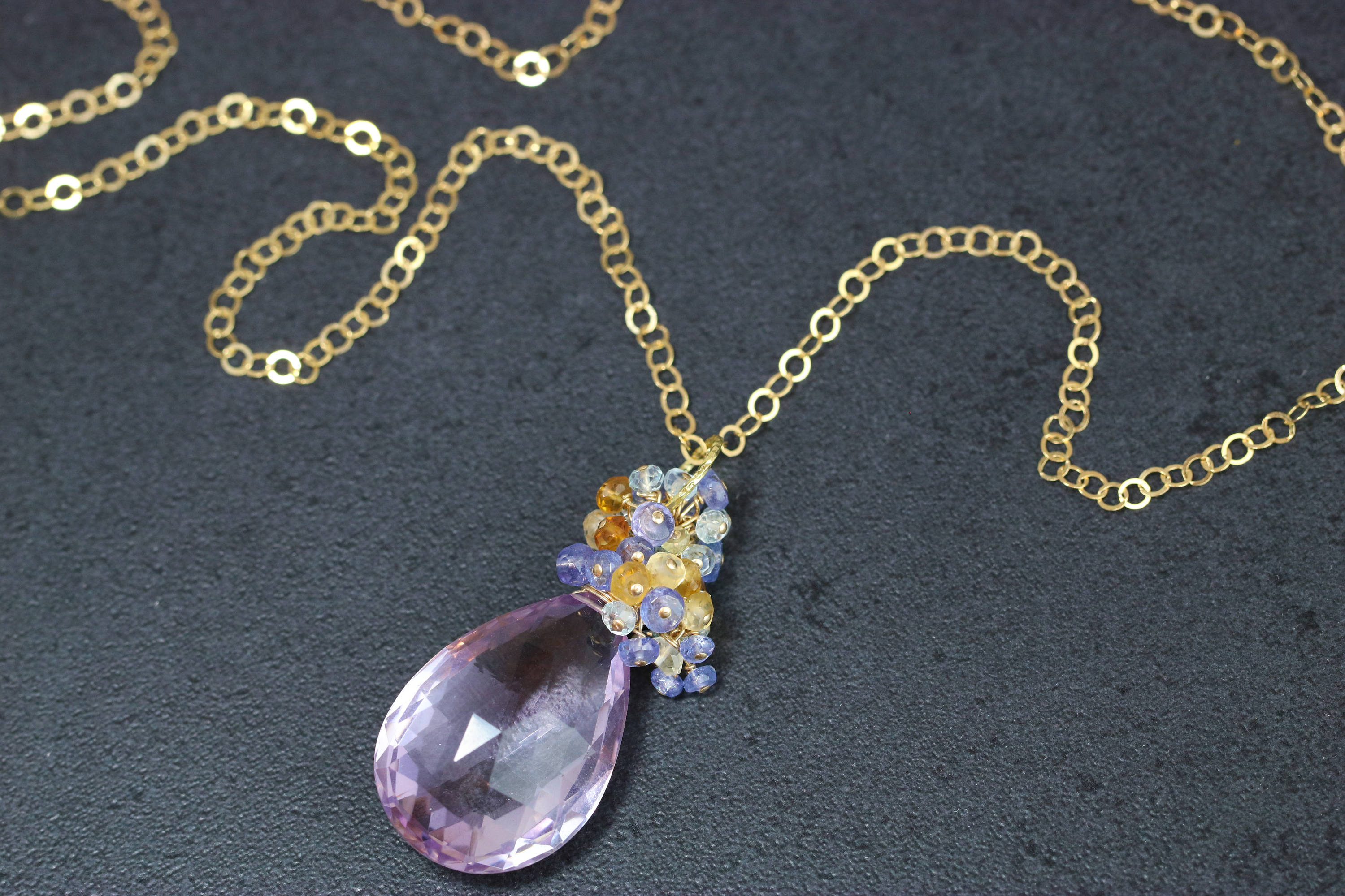 tw with in white necklace gold halo diamond citrine pendant
