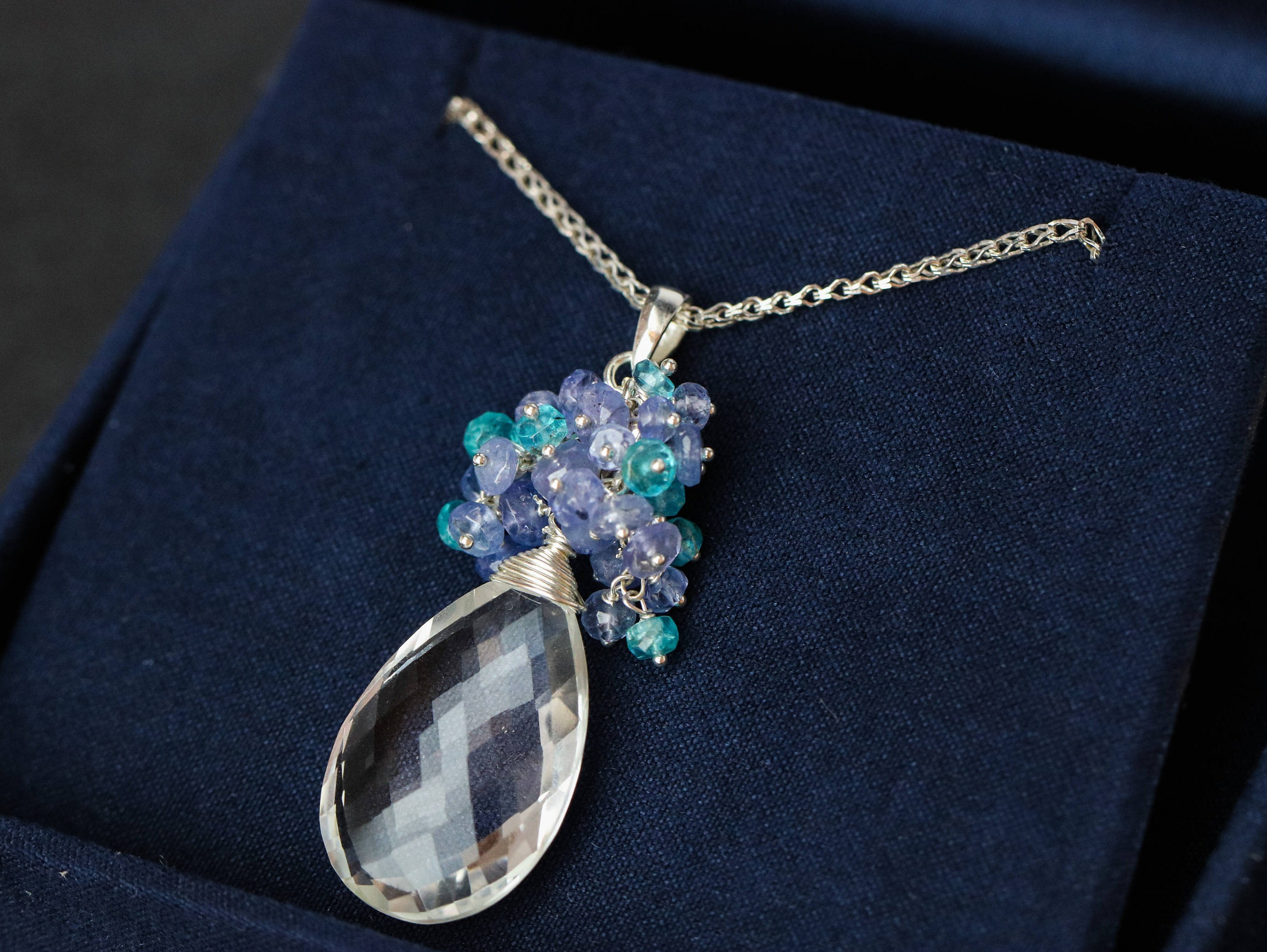 diamond tanzanite product necklace pendant and