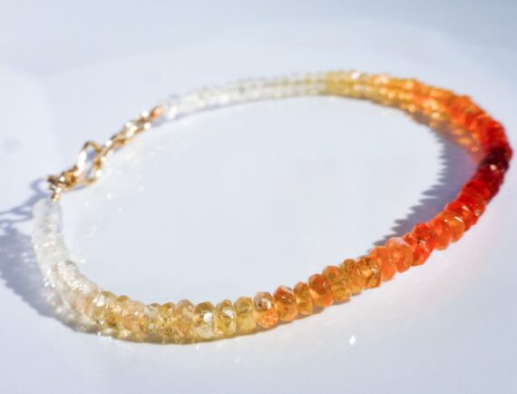Mexican Fire Opal Stacking Bracelet in Gold Filled