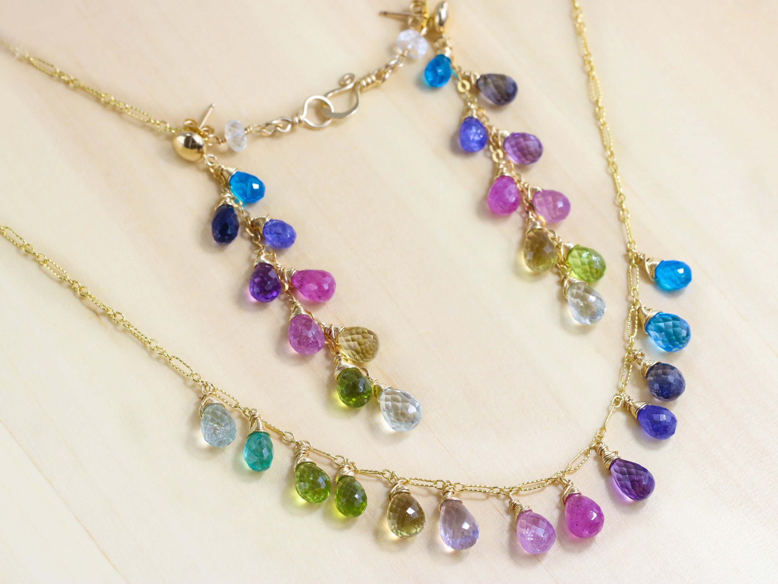 baiushki products rainbow necklace