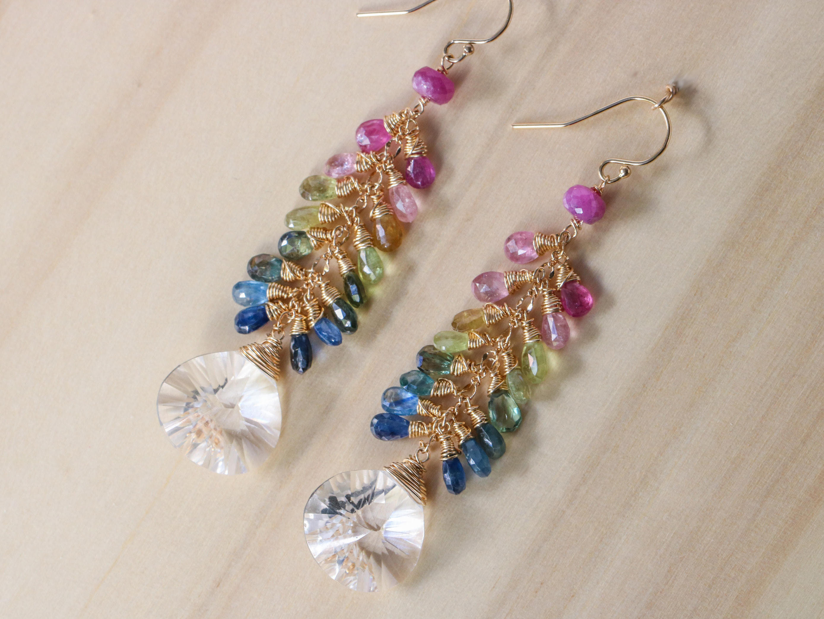 beaded fullxfull rainbow description listing glass earrings cascade il au