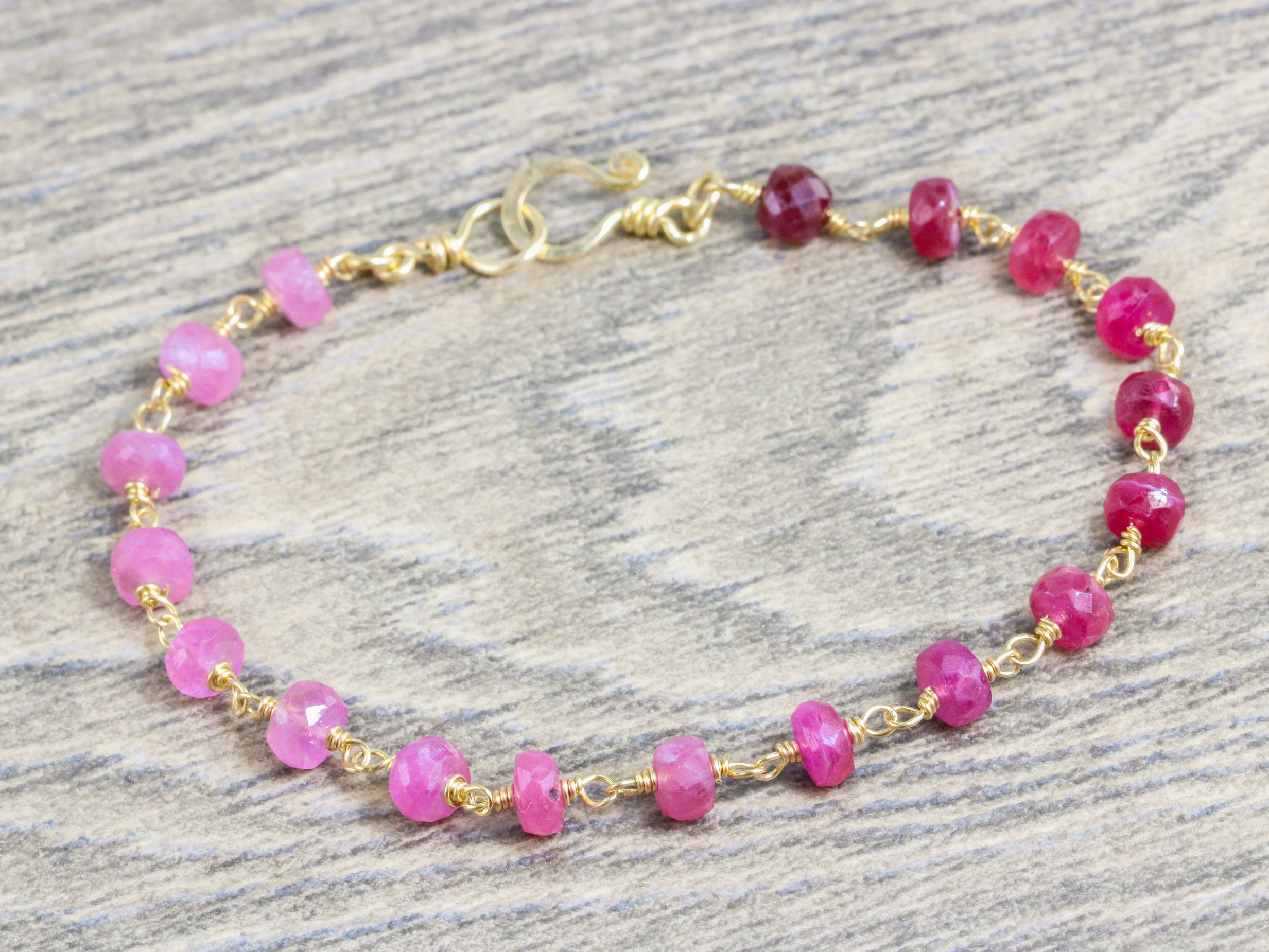 ct bracelet certification gold nsc pink oval web sapphire white