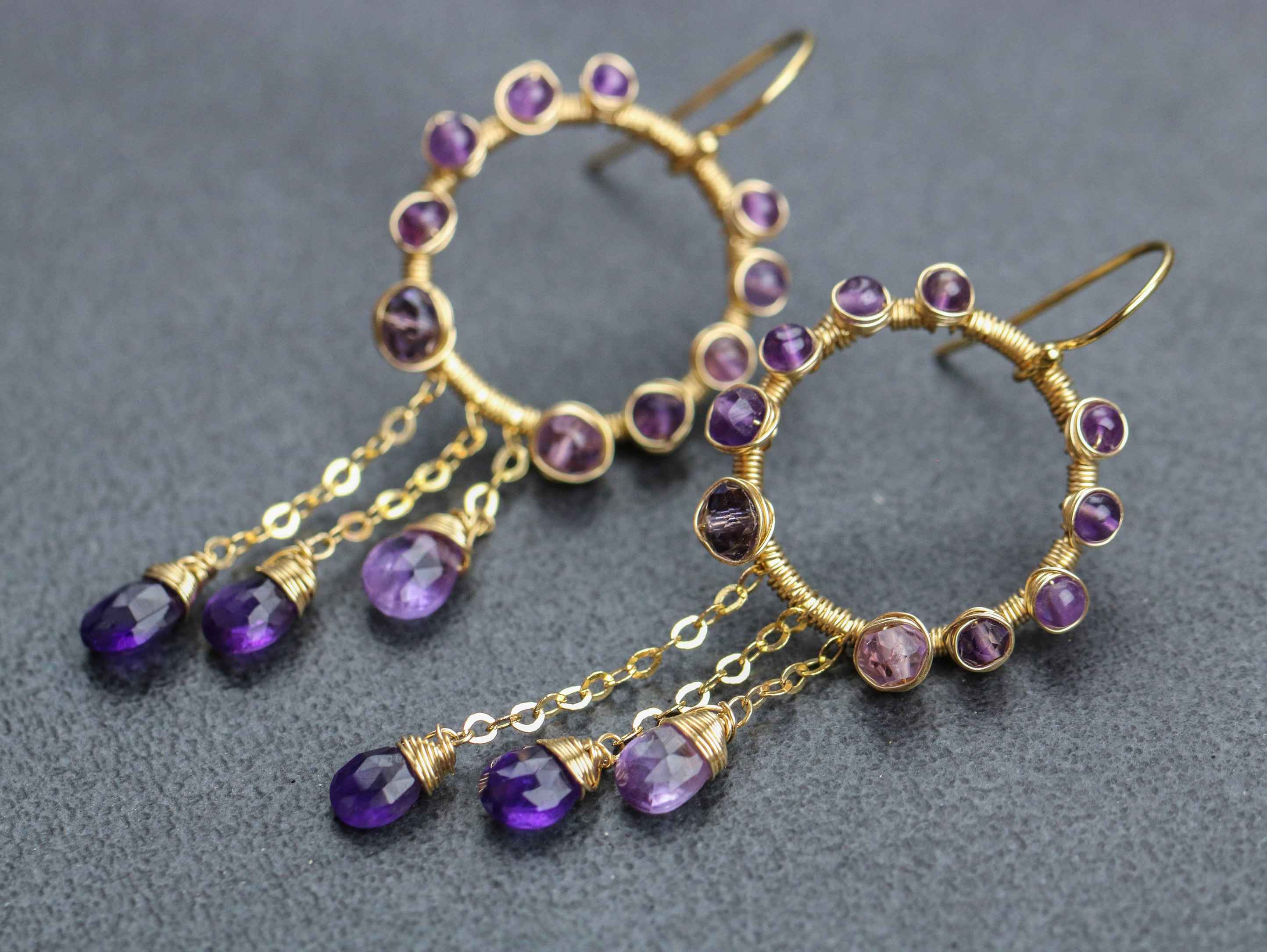 purple swarovski made crystals product silver sterling earrings queenees vl light vitrial with