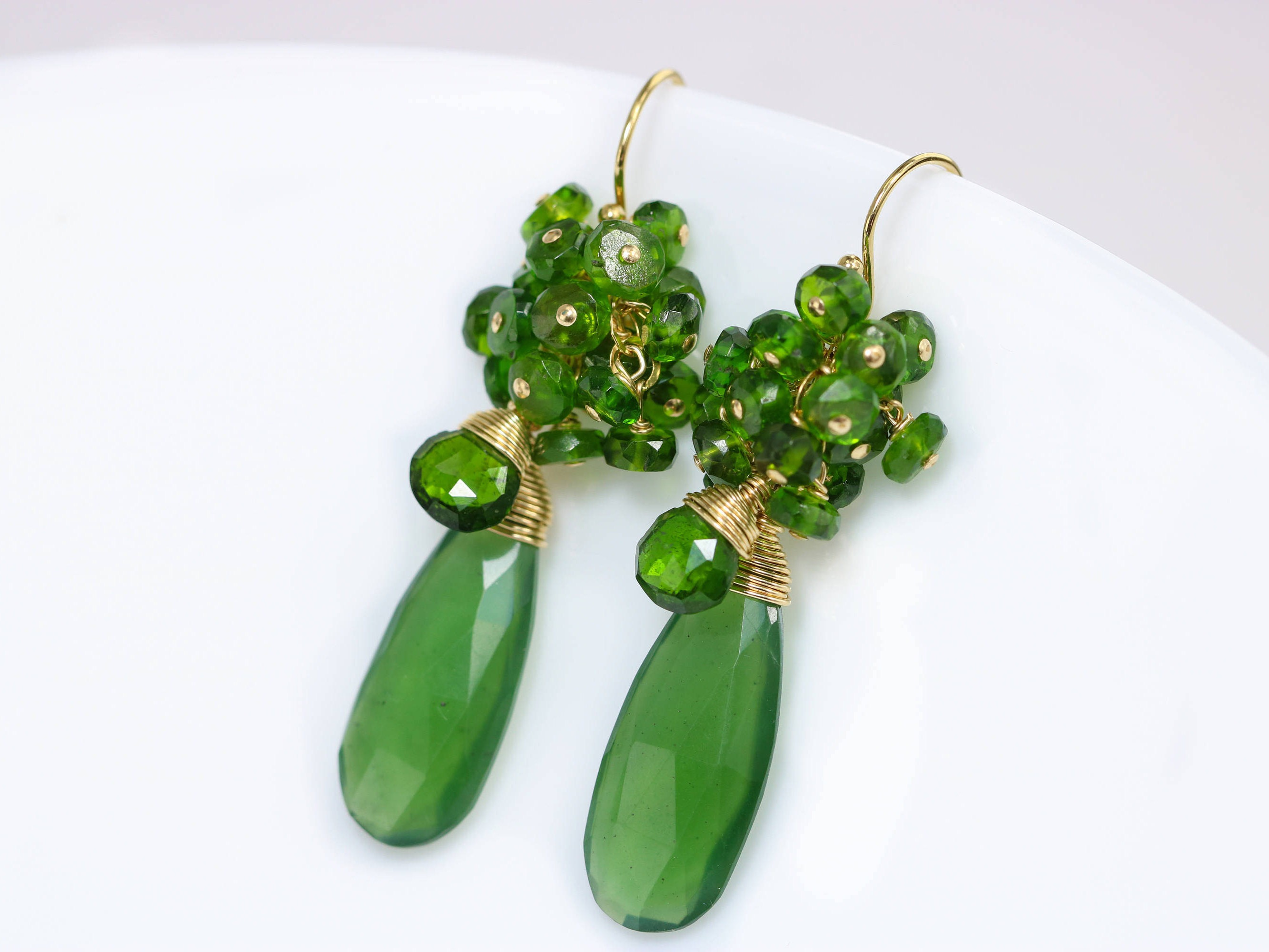 drop earrings emerald s claire teardrop jewellery