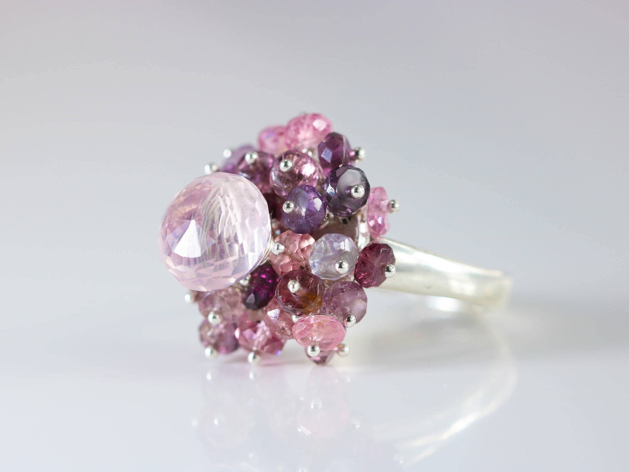 quartz elestial unique ring piece rings rose giardinoblu jewellery milan products