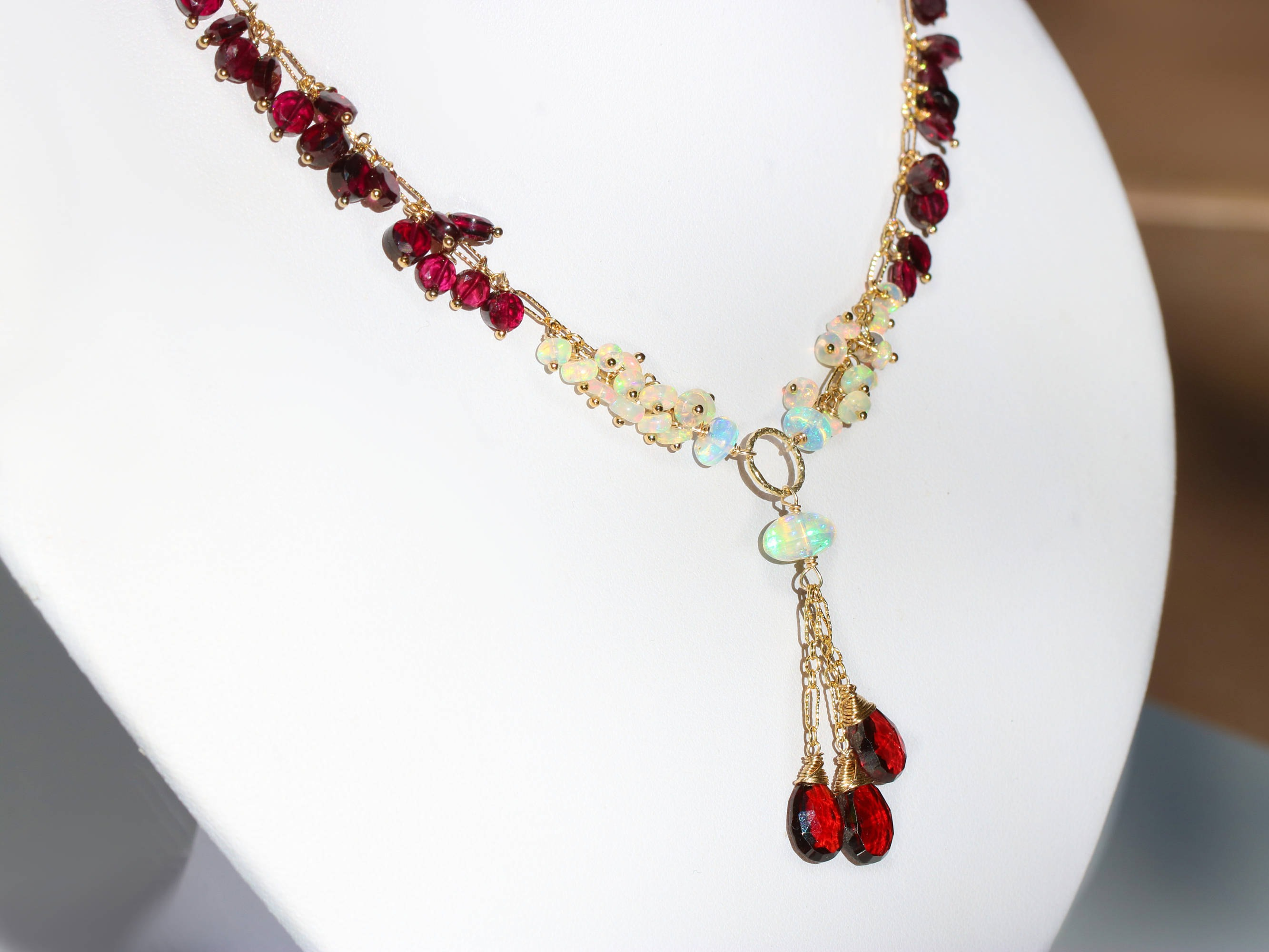 jewelry victorian an ams details necklace red antique lotfinder lot garnet traditional