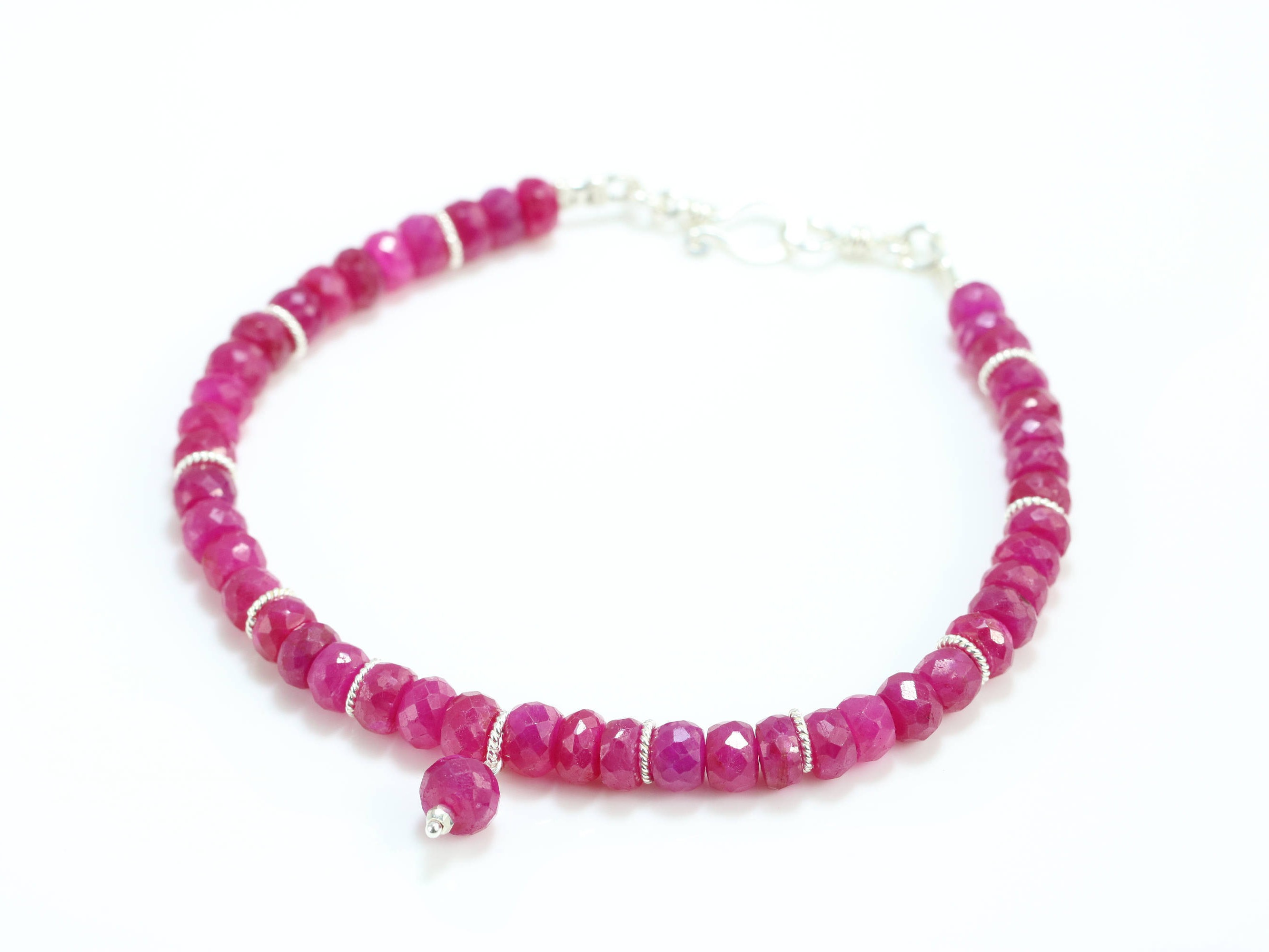 real genuine gemstone design bracelet valltasy ruby fuchsia pink