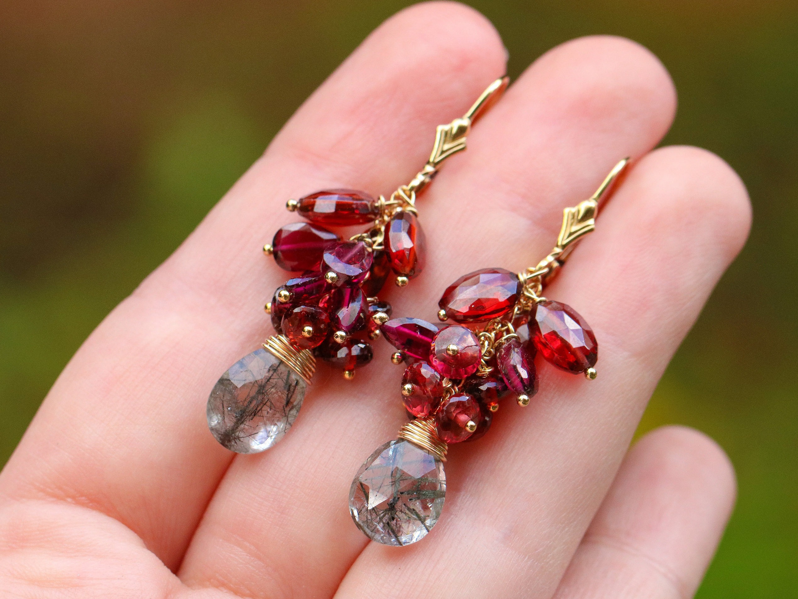 mcclelland column rhodolite mcteigue earrings item garnet link