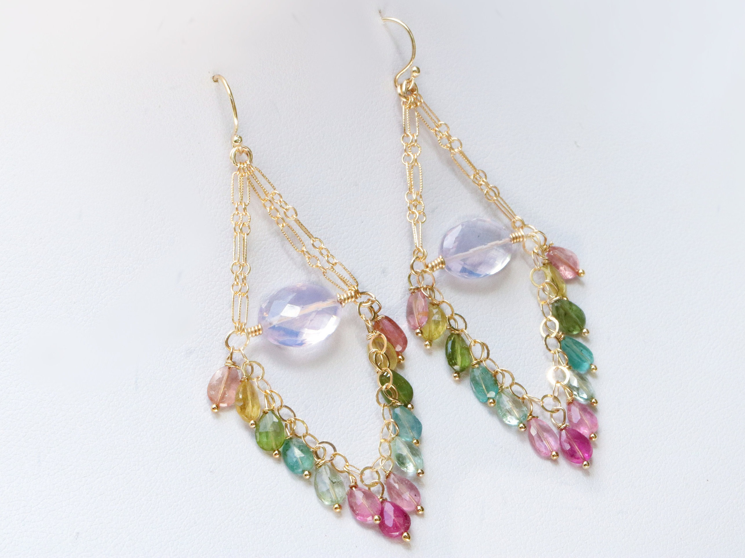 fullscreen jewelry white chan fringe golden mix lyst luu pearl earrings view