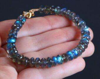 Blue Fire Labradorite Bracelet