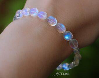 Rainbow Moonstone Oval Bracelet, Finest Moonstone Bracelet